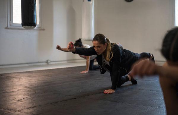 Fightness allenamento ibrido in azione